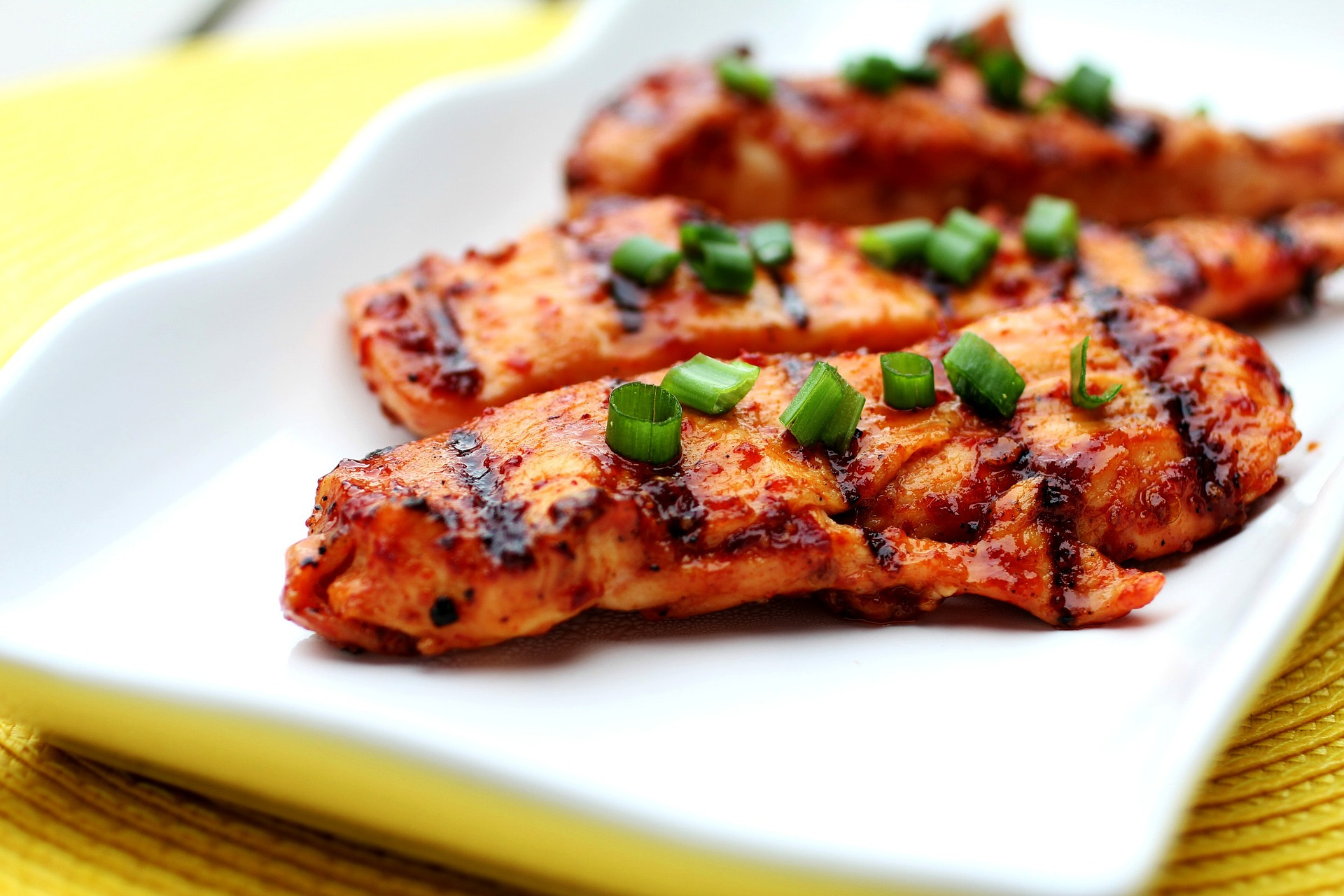 Grilled Spicy, Tangy Chicken
